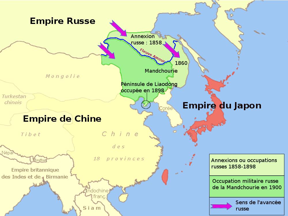 La prise de contrôle de la Mandchourie par la Russie entre 1858 et 1900