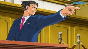 Ace Attorney Phoenix Wright Objection procès