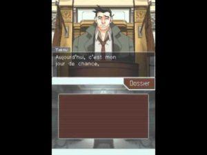 Ace Attorney gameplay procès témoignage Dick Tektiv