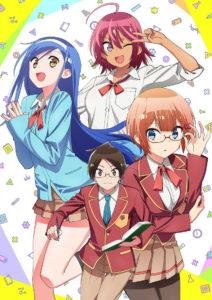 Bokutachi wa Benkyou Dekinai We Never Learn visuel trois héroïnes principales