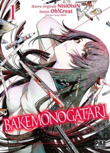 Couverture du tome 1 de Bakemonogatari chez Pika