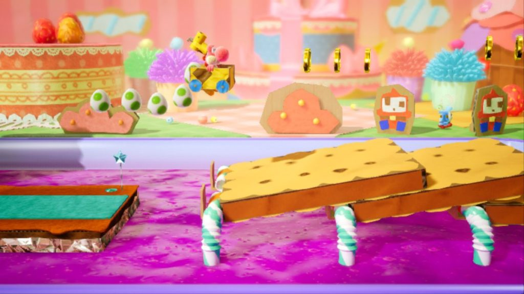 Yoshi's crafted world niveau sucreries