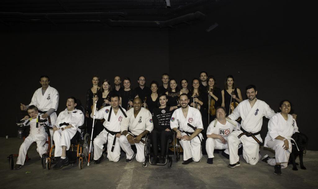 Les membres de No Difference présents au Festival d'Arts Martiaux