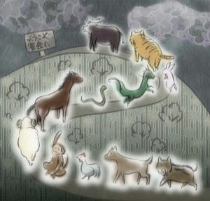 Légende du zodiaque chinois dans Fruits Basket