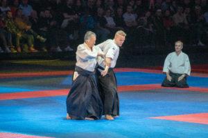 Démonstration d'aïkido au festival d'arts martiaux