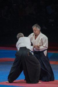 Gérard Blaise en pleine démonstration lors du festival d'arts martiaux