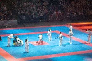 L'équipe d'handi-martial en pleine démonstration