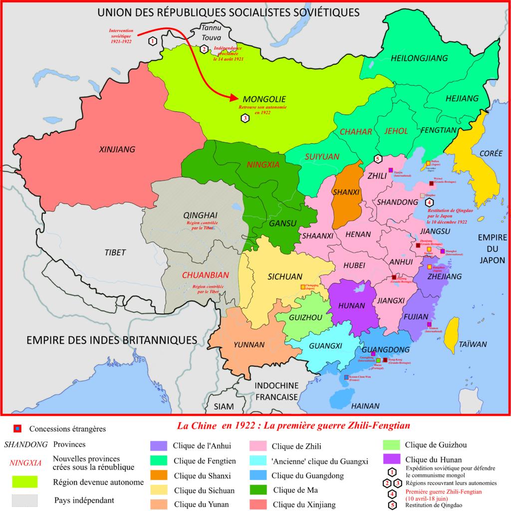 La Chine en 1922 : première guerre Zhili-Fengtian