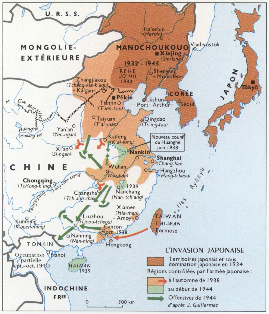 L'invasion japonaise de la Chine (Larousse)
