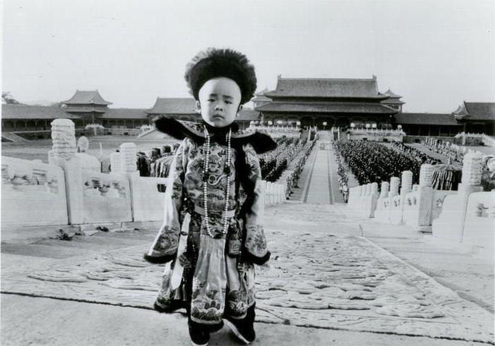 Puyi dans le film Le dernier empereur réalisé par Bernardo Bertolucci en 1987