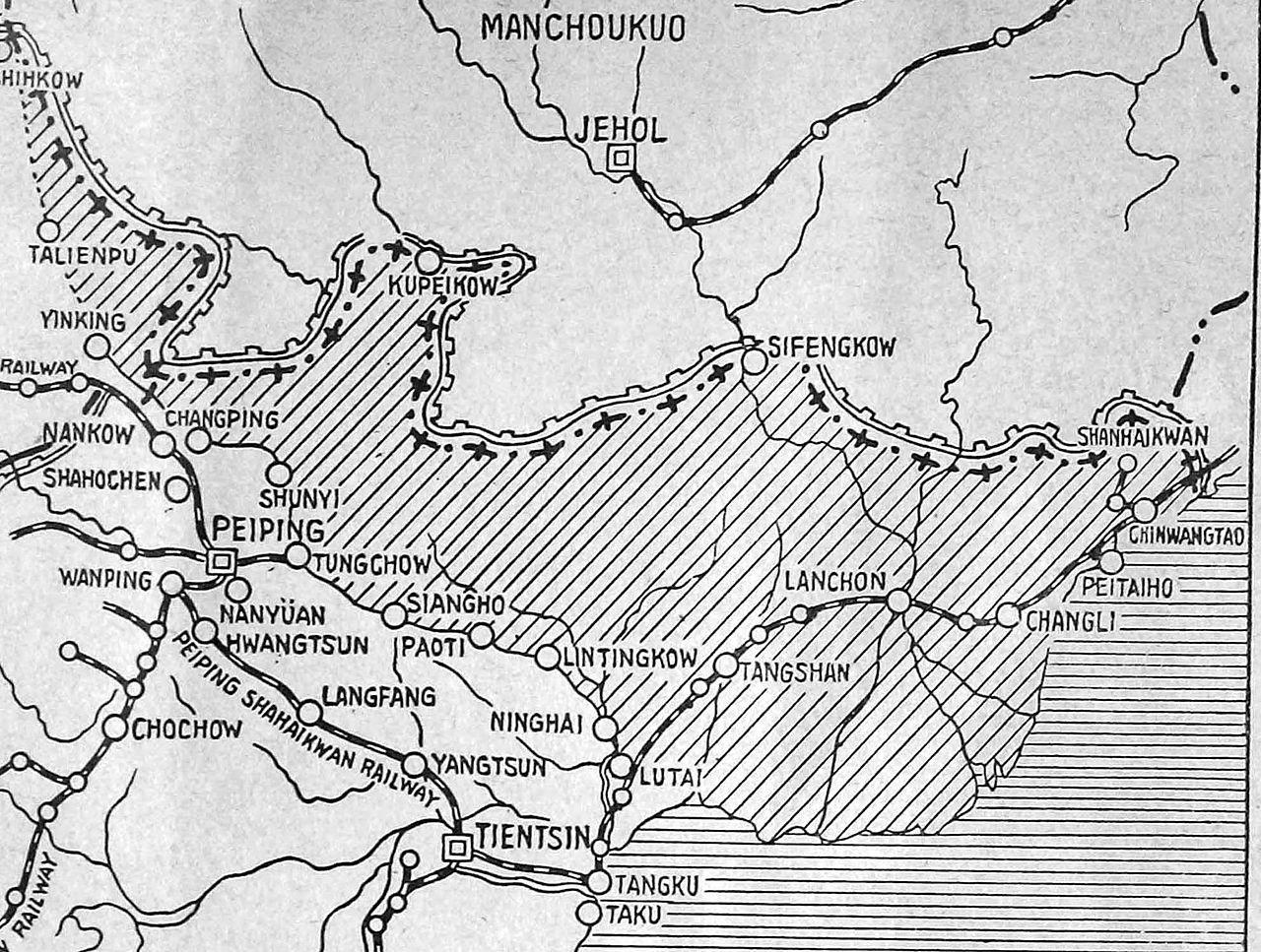 Zone démilitarisée créée par la Trêve de Tanggu