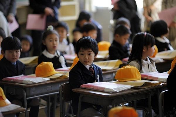 enfants classe japon