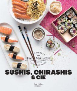 Couverture de Sushi, chirashis et cie par Mathilda Motte chez Hachette