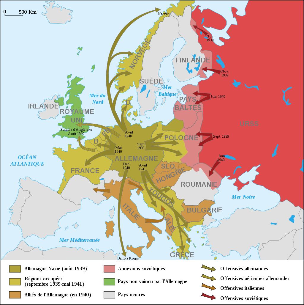 Les succès des forces de l'Axe en Europe du 31 août 1939 au 21 juin 1941