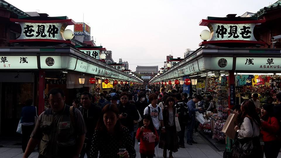 La rue commerçante Nakamise