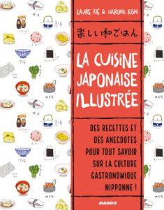 La cuisine japonaise illustrée de Laure Kié et Haruna Kishi aux éditions Mango : couverture