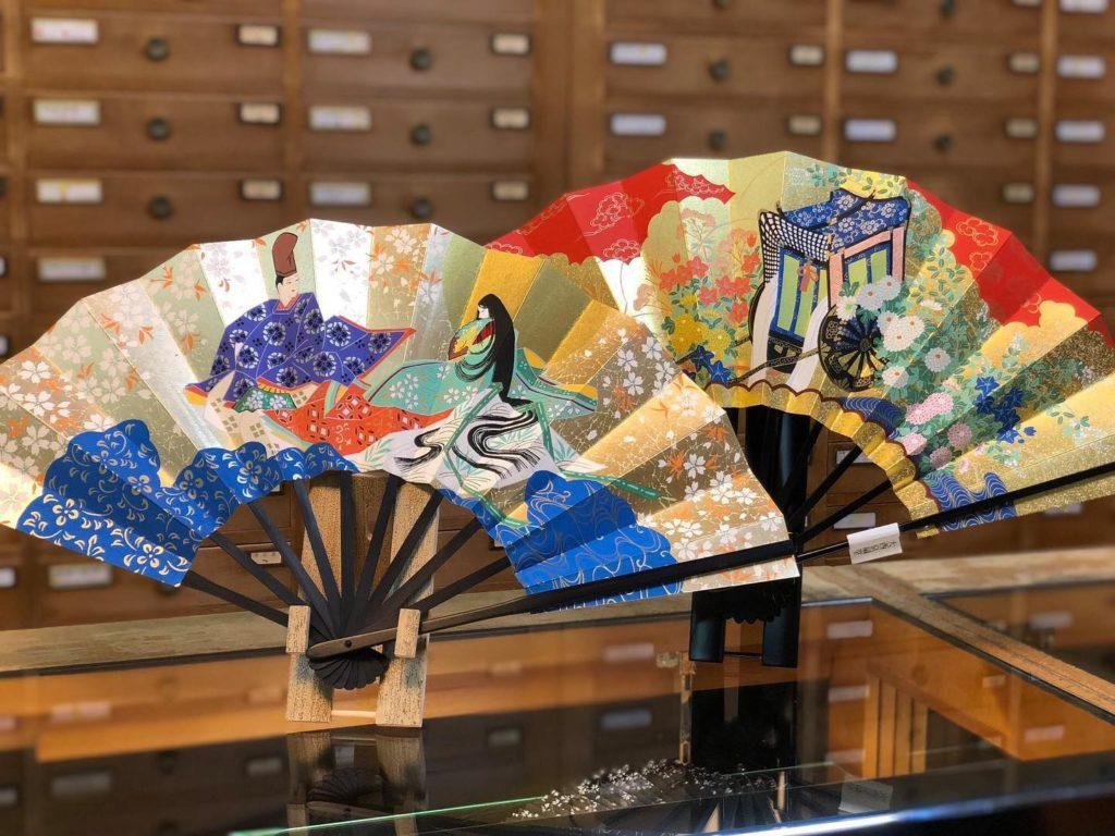 Eventails Onishi Kyosendo, scènes traditionnelles