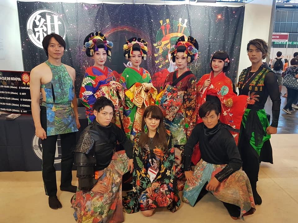 Troupe KOOYA sur leur stand à Japan Expo ©Journal du Japon