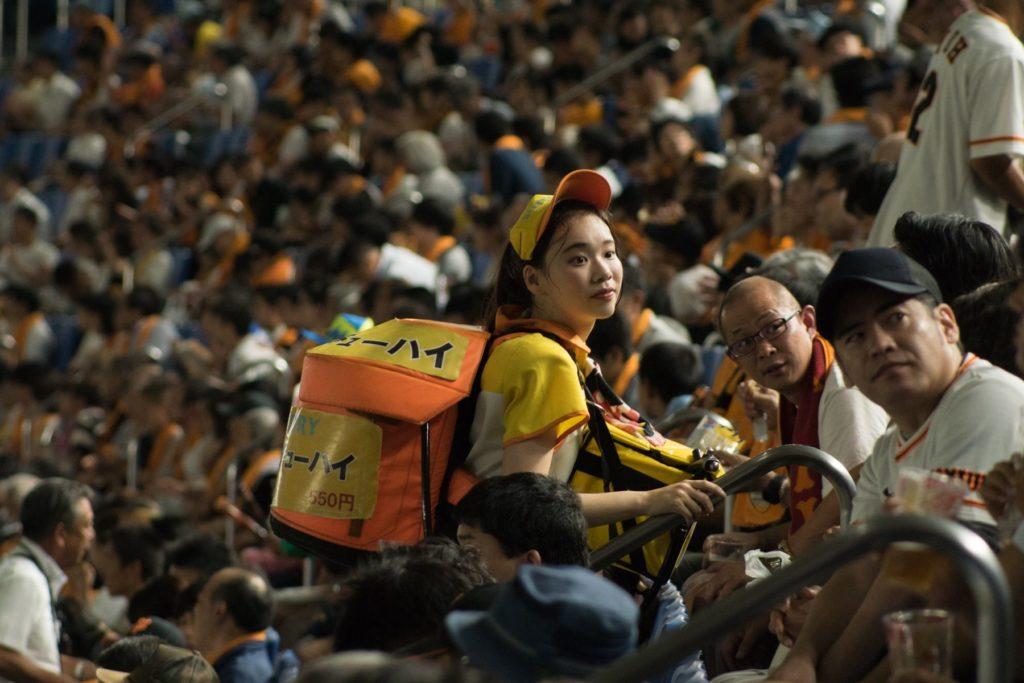 Uriko ou Beer Girl, spécificté du base-ball japonais