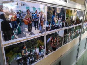 Images du festival exposée au collège Shimobe ©Pascal VOGLIMACCI