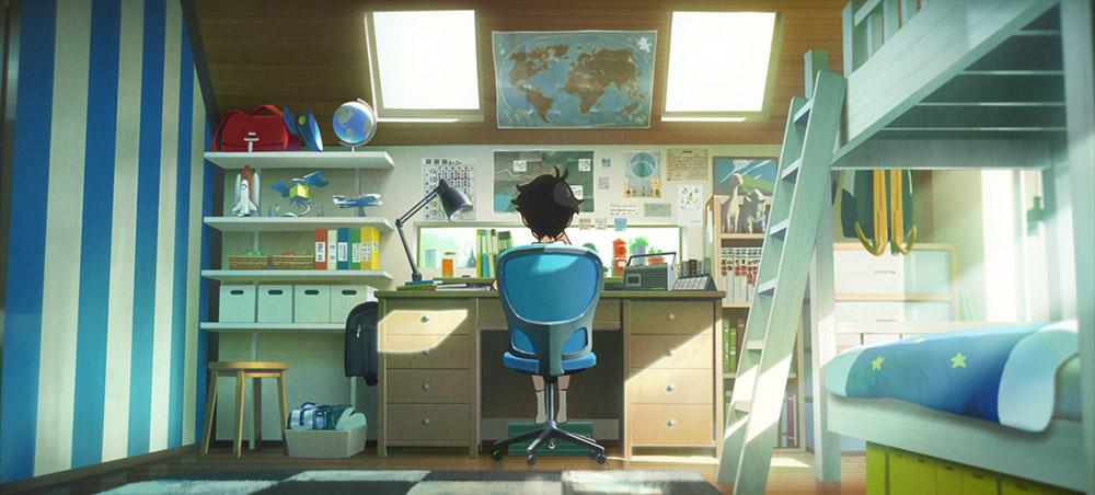 La chambre de Aoyama : un univers déjà bien ordonné et défini ©Wild bunch/Studio Colorido