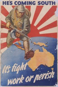 Affiche de propagande pour la bataille pour l'Australie