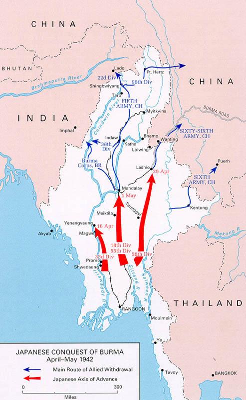 Conquête de la Birmanie avril-mai 1942