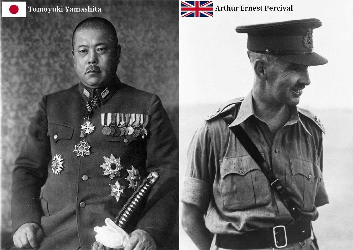 Les généraux Yamashita et Percival