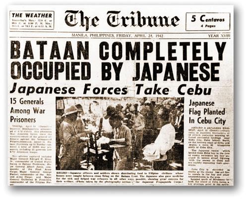 Une Bataan occupée