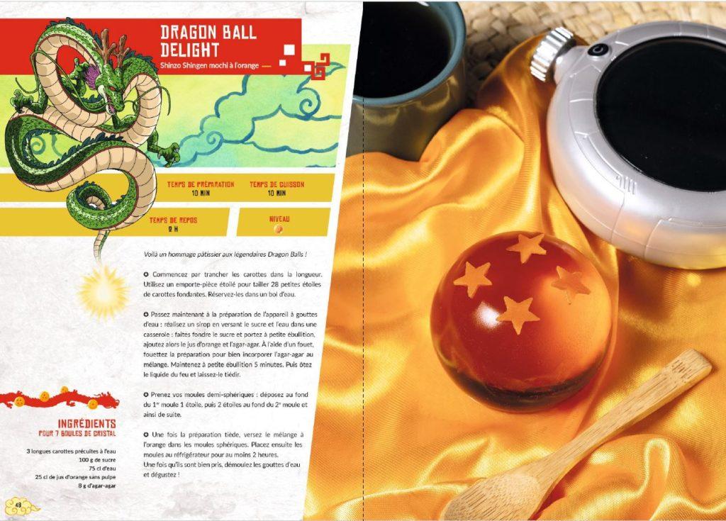 Recettes boule de cristal des recettes Dragon Ball