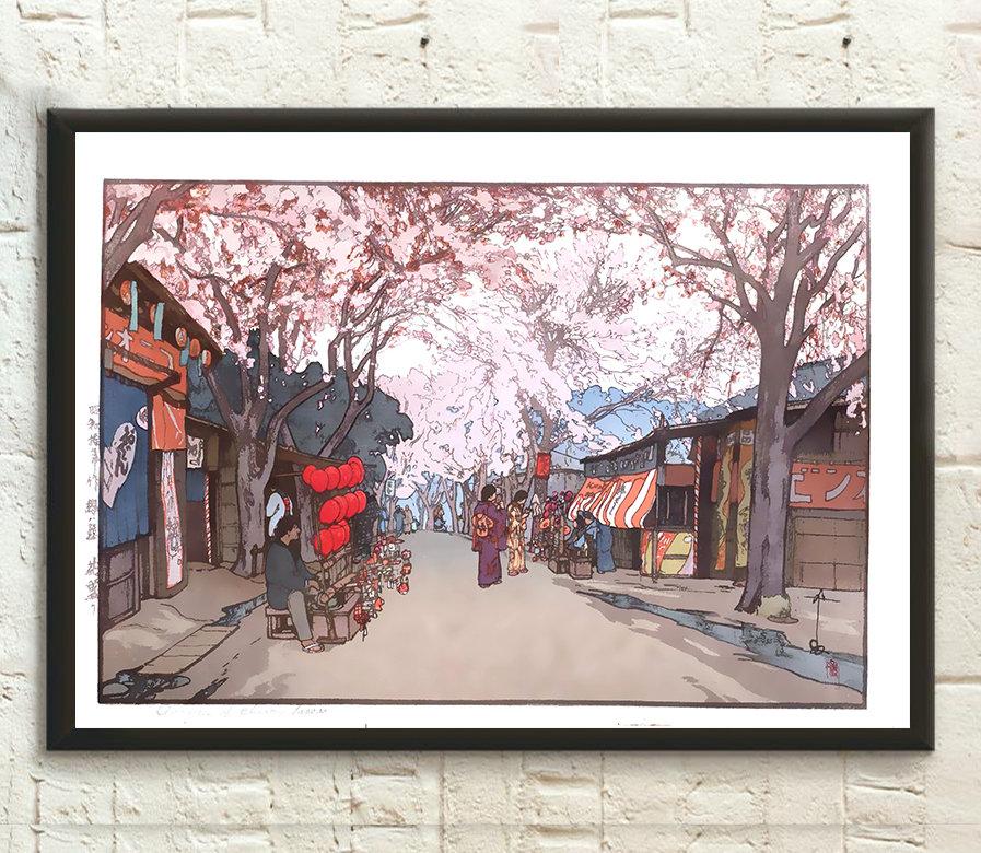 Avenue de cerisiers de Hiroshi Yoshida