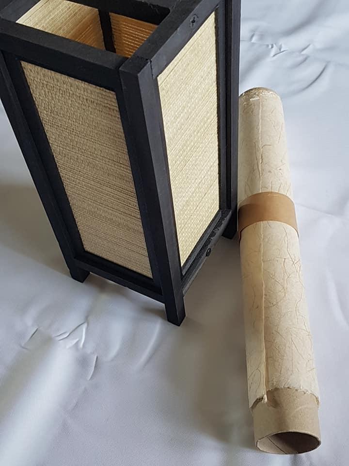 DIY lampe à pied japonaise en papier washi 1