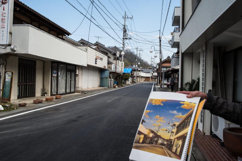 Les rues du village, reprises dans la série.