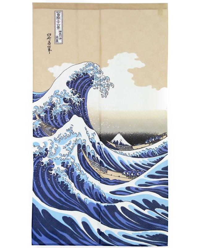 Noren Grande Vague de Kanagawa
