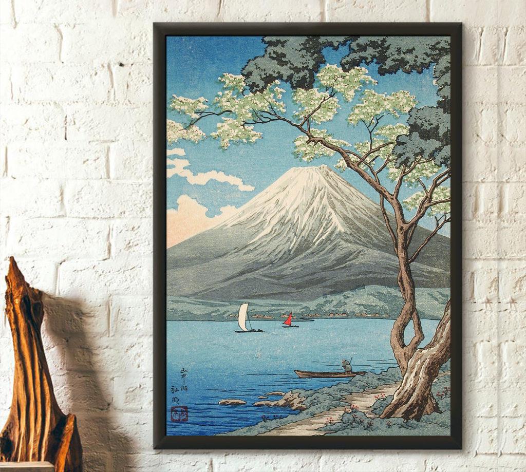 Vue du mont Fuji depuis le lac Yamanaka de Takahashi Hiroaki