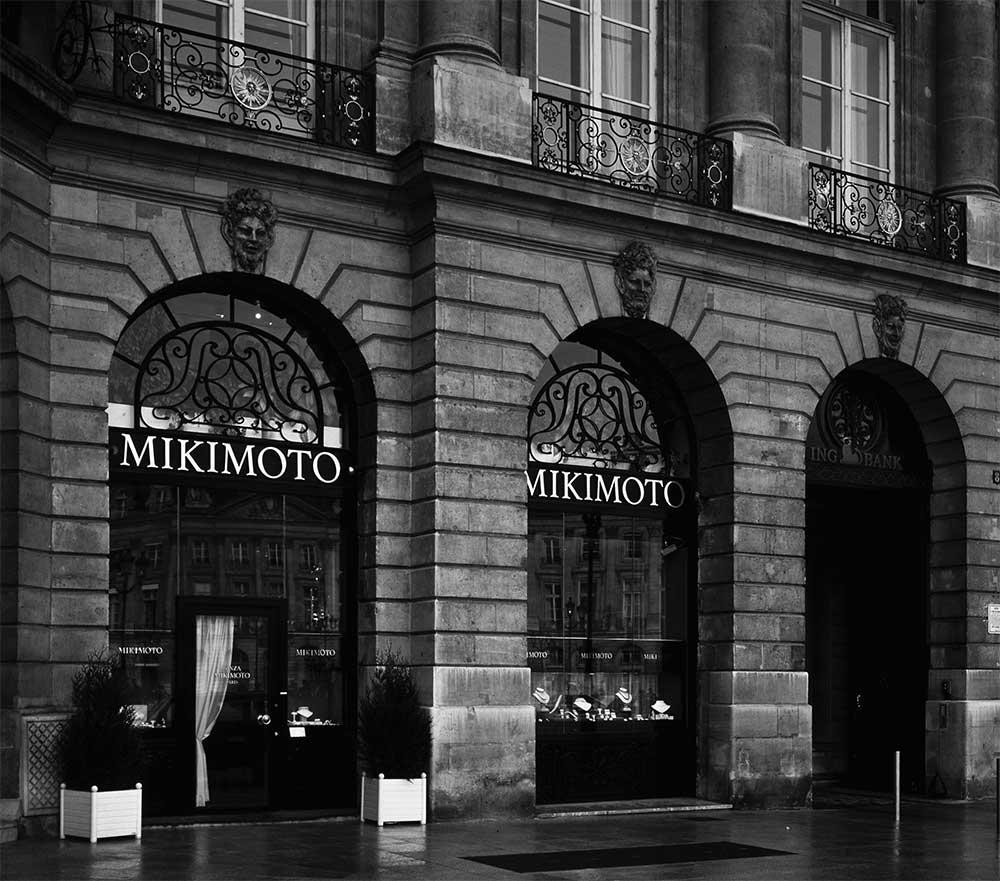 La boutique, place Vendôme à Paris. Crédits : mikimoto.com