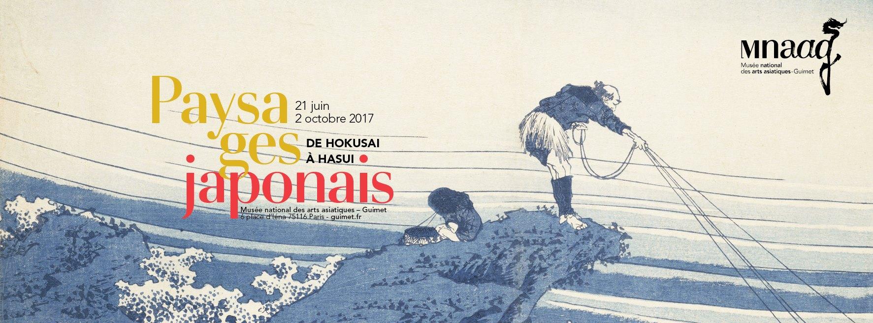 Affiche Paysages japonais, de Hokusai à Hasui