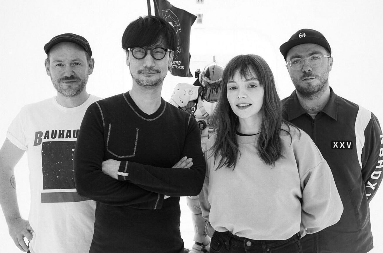 Hideo Kojima avec le groupe CHVRCHES