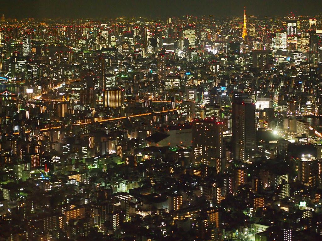 Tokyo Skytree, vue de nuit