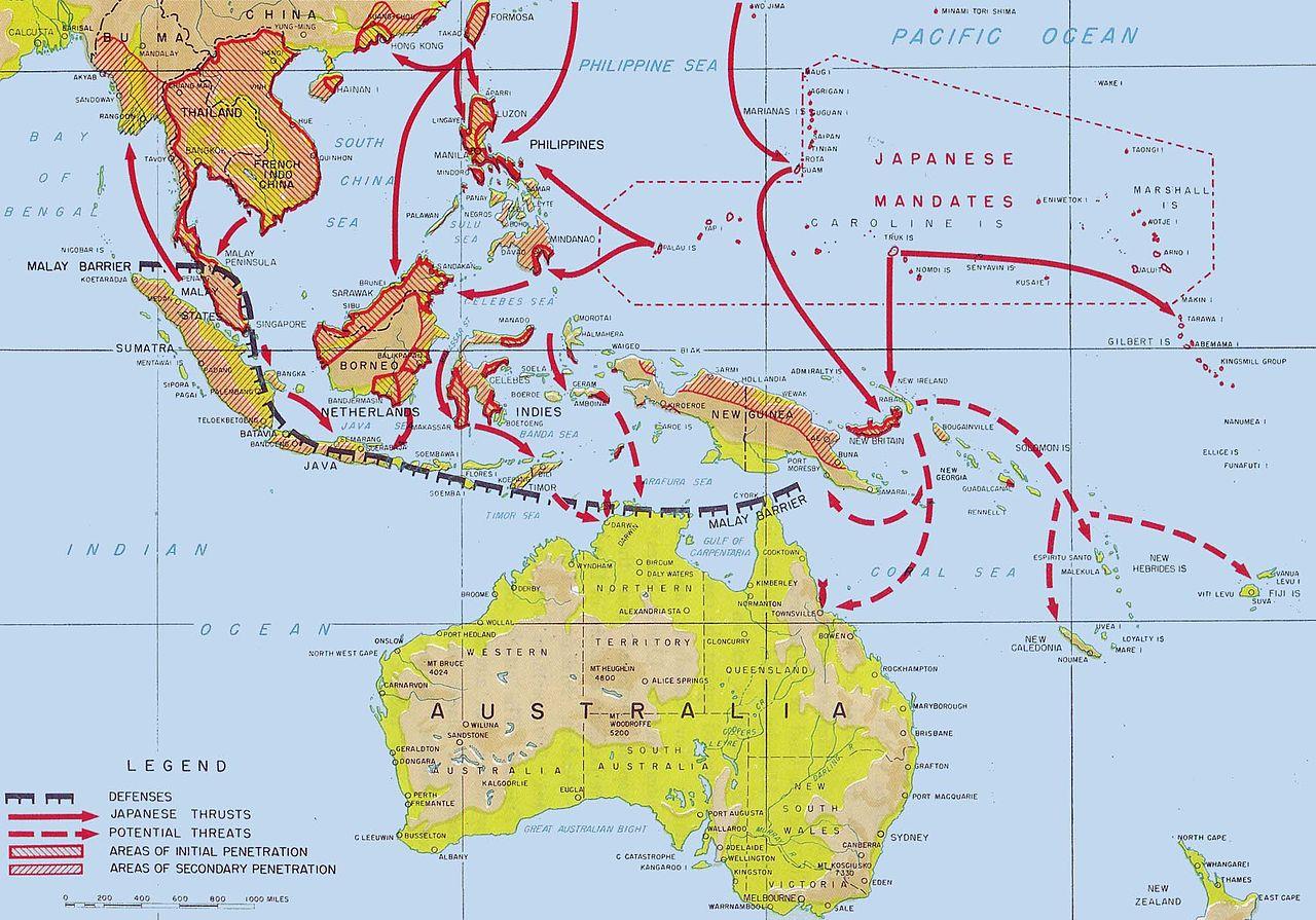 Avancées japonaises dans le Pacifique Sud de décembre 1941 à avril 1942