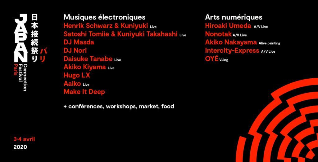 Japan Connection Festival Artistes