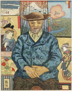"""Estampe de Okuyama Gihachiro d'après """"le père Tanguy"""" de Van Gogh"""