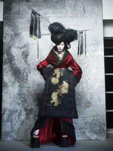Kimono d'oiran de Junko Koshino