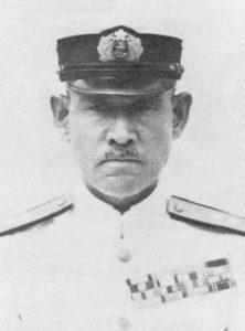 Le vice-amiral Inoue, commandant de la 4e flotte de la Marine Impériale japonaise