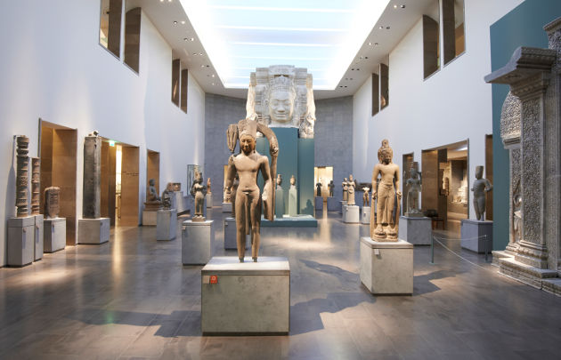 Salle khmer au musée Guimet