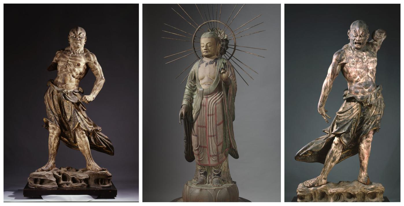 Trois trésors du bouddhisme japonais exposés au musée Guimet