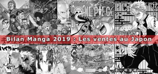 Ventes Manga Japon 2019