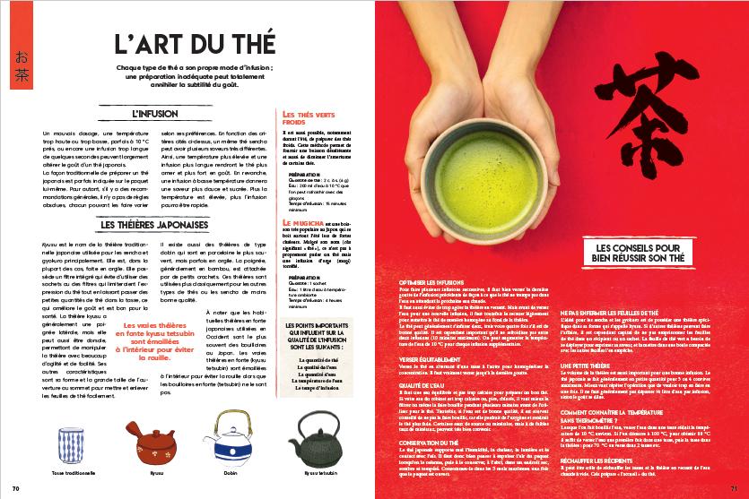 Japon gourmand, page intérieure l'art du thé