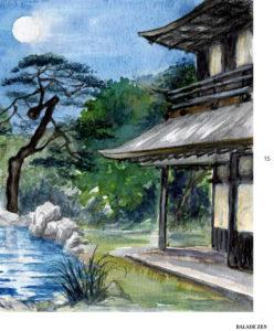 Pavillon d'argent dans Balade Zen