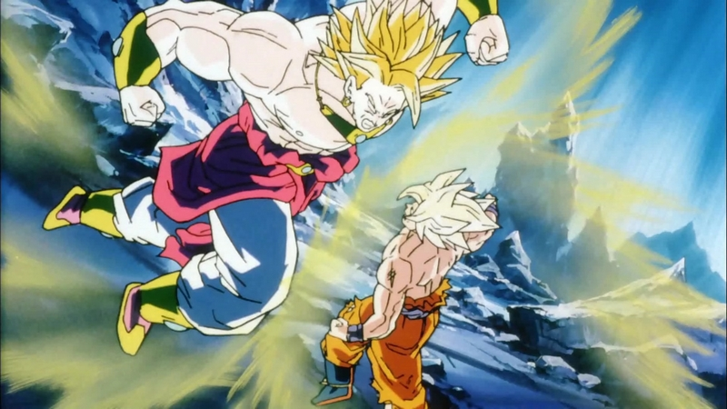 Broly contre Goku dans Dragon Ball Z